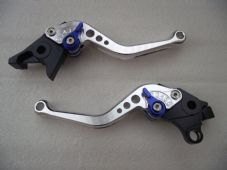 Suzuki GSX1400 (01-07), CNC levers short silver/blue adjusters, F14/S14